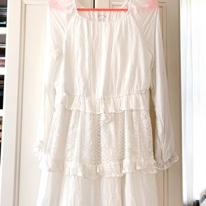 White Layered Lace Dress